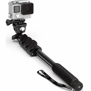 "Professional 10-In-1 GoPro Monopod, 15""- 47"" Waterproof Selfie Stick For Go Pro Hero"