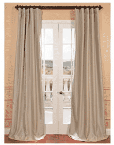 Half Price Drapes PTCH-BO130907-120 Blackout Faux Silk Taffeta Curtain