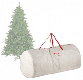 Elf Stor 30-Inch-by-60-Inch Christmas Tree Storage Bag, Christmas Tree Storage Bags White
