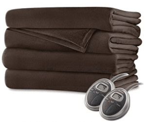 Sunbeam Luxurious Velvet Plush King Heated Blanket with 20 Heat Settings