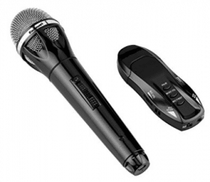 Excelvan K18 Bluetooth Wireless Audio Cable USB Charge Microphone Portable Handheld with Receptor for Bar KTV