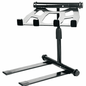 Pyle PLPTS55 - Portable, Folding Tabletop DJ Gear Stand for Laptop Mixer or Other Gear