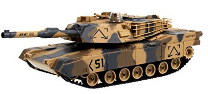 "M1A2 Abrams USA Battle Tank RC 16"" Airsoft Military Vechile - Best RC Tanks"
