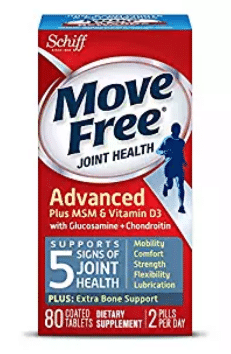 Move Free Advanced Plus MSM and Vitamin D3, 80 tablets