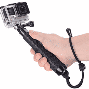 Vicdozia 19'' Waterproof Hand Grip Extendable Selfie Stick Handle Monopod Adjustable Pole for GoPro Hero 6