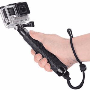 Vicdozia 19'' Waterproof Hand Grip Extendable Selfie Stick Handle Monopod Adjustable Pole for GoPro Hero 6