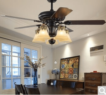 Ceiling fan lamp fan lamp chandelier chandelier fan bedroom living room