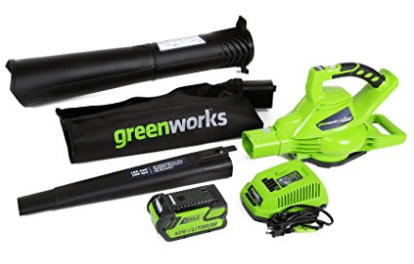 GreenWorks 24322 G-MAX 40V 185MPH Variable Speed Cordless Blower/Vac, Electric Leaf Blowers