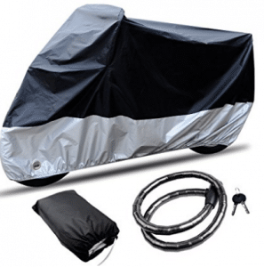 Motorcycle Covers, CARSUN All Season Two-color Design Waterproof & Aluminum Lock Holes & Buckle & Lock Outdoor
