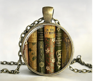 Library Book Necklace, Book Pendant,book Jewelry
