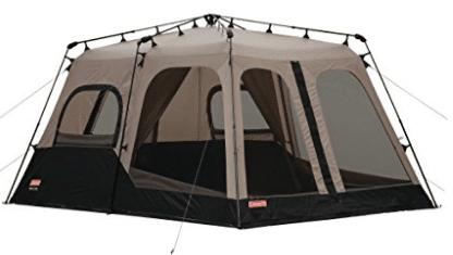 Coleman 2000018295 8-Person Instant Tent, Black