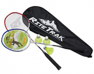 FiberFlash 7 Badminton Racket Set by RiteTrak Sports