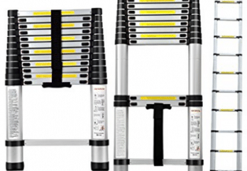 Yaheetech EN131 Std. 12.5Ft Aluminum Telescopic Telescoping Ladder Extension Extend Loft