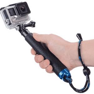 Vicdozia 19'' Waterproof Hand Grip Adjustable Extension Selfie Stick Handheld Monopod
