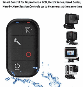 COOSA WiFi Waterproof Smart Remote Control with Charing Cable and Wrist Strap for Gopro Hero