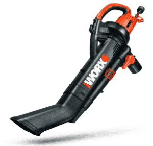 WORX TRIVAC 12 Amp 3-in-One Blower/Mulcher/Vacuum with Metal Impeller, 210 MPH / 350 CFM Adjustable Output- Electric Leaf Blowers