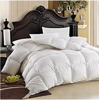 LUXURIOUS Queen Size Siberian GOOSE DOWN Comforter, Goose Down Comforters 600 Thread Count 100% Egyptian Cotton Cover