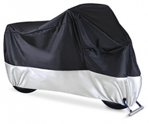 "Ohuhu Waterproof Motorcycle Cover, Fits up to 108"" Motors, 2 Lock-holes Design - Motorcycle Covers"