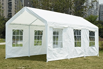 Quictent 20'X10' Heavy Duty PE Water Resistant Party Wedding Tent carport Canopy