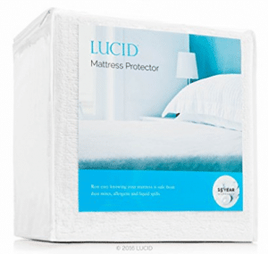 LUCID Premium Hypoallergenic 100% Waterproof Mattress Protector