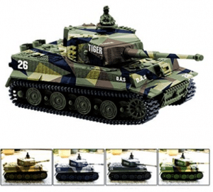 Cheerwing 1:72 German Tiger I Panzer Tank Remote Control Mini RC tank with Sound