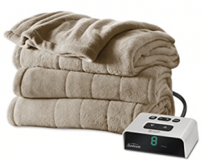 Sunbeam Microplush Heated Blanket, Full, Mushroom, BSM9BFS-R772-16A00