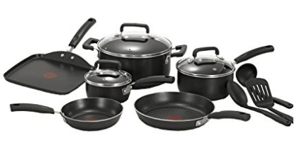 T-fal C530SC Signature Nonstick Expert Thermo-Spot Heat Indicator Dishwasher Safe Cookware Set