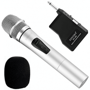 Wireless Handheld Microphone, Dynamic Cordless Vocal Microphone with 6.35mm Plug Receiver for Karaoke