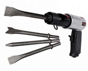 PowRyte Basic Medium Stroke Air Hammer with 4 Chisels