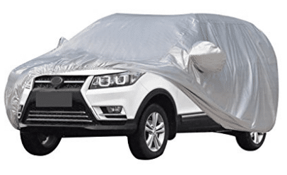 AUDEW Car Cover Waterproof /Windproof/Dustproof/Scratch Resistant Car Cover Sun Outdoor UV Protection Full Car Covers For SUV Car 210''