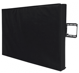 """Outdoor TV Covers, SONGMICS Outdoor TV Cover for 40""""- 43""""Waterproof TV Protector Compatible with Wall Mounts and Stands Black UGTR42B"""