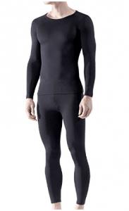 Tesla Blank Men's Microfiber Fleece Lined Top & Bottom Set MHS100 - Men's Long Underwear