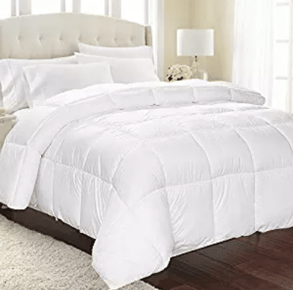 Equinox Comforter - (350 GSM) White Alternative Goose Down Duvet (Queen), Goose Down Comforters
