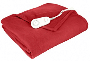 Sunbeam Fleece Heated Throw with PrimeStyle Lighted Controller
