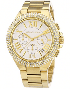 Michael Kors MK5756 Women's Camille Gold-Tone Glitz Stainless Steel Bracelet Watch