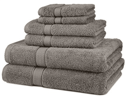 Pinzon Blended Egyptian Cotton 6-Piece Towel Set, Bath Towel Sets