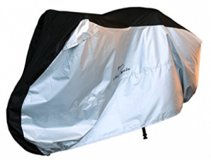 4MyCycle 210T Waterproof Bike Cover, Bike Covers Black and Silver