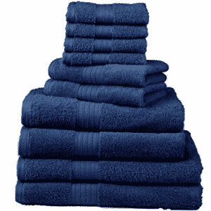 Divatex Home Fashions 10-Piece Deluxe Towel Sets - Bath Towel Sets