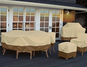 Classic Accessories Veranda Oval/Rectangular Patio Table & Chair Set Cover