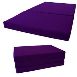 Shikibuton Tri-Folded Bed, High Density 1.8 lbs Foam - Purple Mattresses