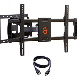 ECHOGEAR Full Motion Articulating TV Wall Mount Bracket for most 37-70 inch LED, Corner TV Wall Mounts