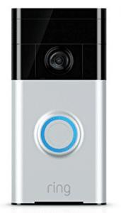 Ring Wi-Fi Enabled Video Doorbell in Satin Nickel - Gifts for Grandma