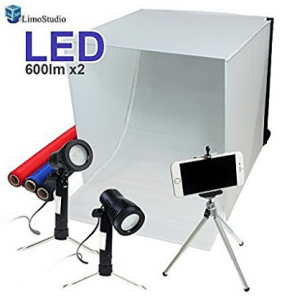 "LimoStudio 16"" x 16"" Table Top Photo Photography Studio Lighting Light Tent Kit"