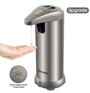 Soap Dispenser, OPERNEE Automatic Hands Free Fingerprint Resistant Stainless Steel Soap Dispenser