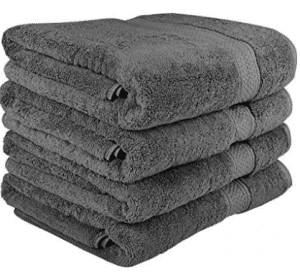 700 GSM Premium Towels Set 4 Pack - Cotton for Hotel, Bath Towel Sets
