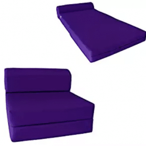 Sleeper Chair Folding Foam Bed - Studio Foam Mattress, Purple Mattresses