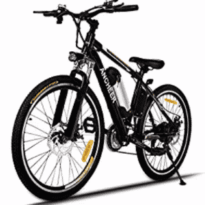 Ancheer Power Plus Electric Mountain Bike with Removable Lithium-Ion Battery, Gifts for Grandpa