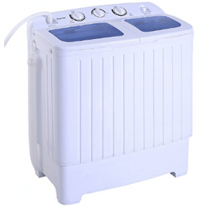Giantex Portable Mini Compact Twin Tub 17.6lbs Washing Machine Washer Spin Cycle, Mini Washing Machines