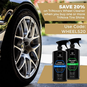 Tire Shine Spray No Wipe - Automotive Clear Coat Dressing for Wet & Slick Finish