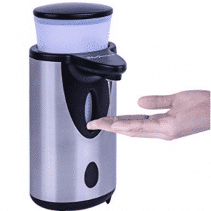 Automatic Touchless Soap Dispenser, Hands Free Stainless Steel Electric Motion IR Sensor Battery Operated